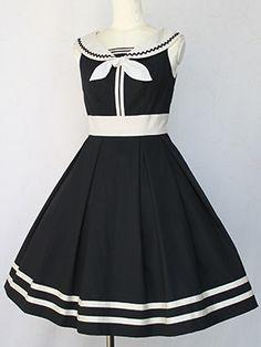 Victorian maiden フレンチマリンリボンラインドレス