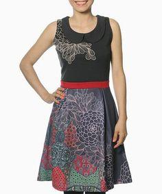 Look what I found on #zulily! Black & Red Eileen Dress #zulilyfinds