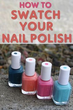 How to Swatch Your Nail Polish >>> Really useful!! This is really cool! Didn't think of this!