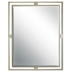 """Double Tube Frame Mirror, Shades of Light, BN or Bronze, 30""""H x 24""""W (349.00)"""