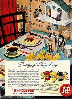 1950 Vintage A & P Coffee Ad