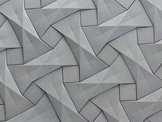 KAZA Concrete's contemporary concrete tile design,'Quadilic' by origami artist Ilan Garibi Pattern Texture, 3d Pattern, Texture Design, Surface Pattern, Surface Design, Pattern Design, Grey Pattern, Concrete Tiles, Concrete Design
