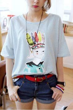 short - sleeved T - shirt - http://zzkko.com/note/40828 $8.17