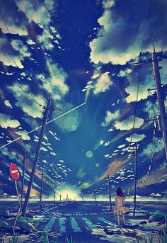 Discovered by Find images and videos about anime and summer wars on We Heart It - the app to get lost in what you love. Fantasy Kunst, Fantasy Art, Image Manga, Anime Kunst, Estilo Anime, Anime Artwork, Anime Scenery, Anime Style, Landscape Art