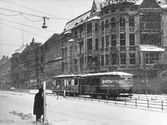 Strassenbahn Schlossstrasse in Steglitz Winter 1944