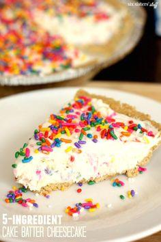 5-Ingredient Cake Batter Cheesecake