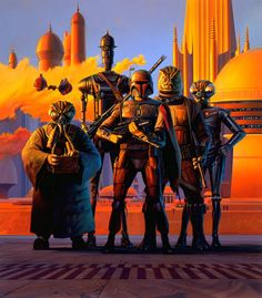 Bounty Hunters at Bespin - Ralph McQuarrie