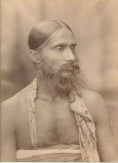 Potrait of a Holy Man from Ceylon (Sri Lanka) - Ceylon Sri Lanka, Forest People, Vintage India, Island Nations, Orient Express, Asian History, Historical Images, Le Far West, Silk Road
