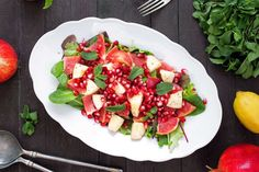 This refreshing salad does not need any dressing or seasoning. You can substitute oranges for the grapefruit, if you like. Instructions: 1. Place the apple, grapefruit, and pomegranate seeds in...  Read more