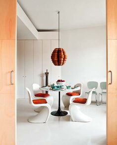 Modern Masculine Dining area from DOMAINE HOME.
