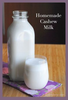 The Blenderist | Homemade Cashew Milk | http://theblenderist.com Vegan nut milk recipe