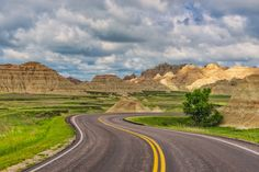 The entrance to the Badlands in South Dakota