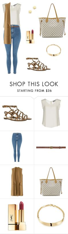 """""""Untitled #1285"""" by mariafilomena471 ❤ liked on Polyvore featuring Valentino, Silvian Heach, Topshop, Gucci, Louis Vuitton, PUR, Chloé and Jennifer Meyer Jewelry"""