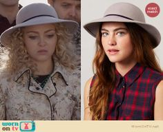Carrie's hat on The Carrie Diaries. Outfit Details: http://wornontv.net/25639 #TheCarrieDiaries #fashion