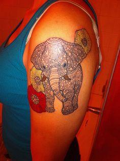 My Elephant Tattoo 2011*   #elephant #tattoo