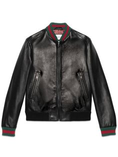 GUCCI Jacket With Web.  gucci  cloth  web Gucci Leather Jacket, Men s 7ecae25c51e