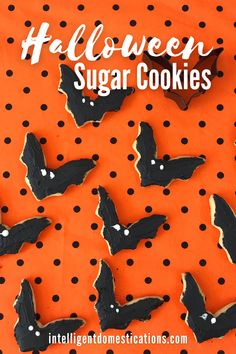 Make these Decorated Bat shaped cookies for your Halloween party food. They look spooky but they are really a sweet treat for your Halloween party this year. Sugar cookie recipe included in the post. #halloweenparty #cookierecipe #halloweenfood Sprinkle Cookies, Cake Mix Cookies, Sugar Cookies Recipe, Peanut Butter Cookies, Halloween Sugar Cookies, Lemon Blossoms, Chocolate Day, Homemade Candies, Halloween Food For Party