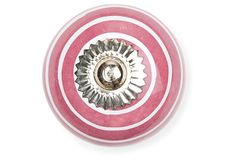 S/4 Ceramic Knobs, Red Stripes on OneKingsLane.com $12