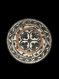 A slip-painted pottery bowl | Persia, 10th Century