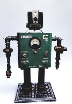 "Repurposed robot ""Bambino"" by Gille Monte Ruici"