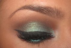Teal and brown makeup by ChloeMorello