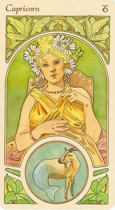 Someone please tell me the name of this artist! I want to find the art nouveau Gemini illustration...