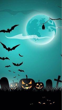 Halloween Painting, Theme Halloween, Halloween Pictures, Holidays Halloween, Spooky Halloween, Vintage Halloween, Halloween 2019, Happy Halloween, Holiday Wallpaper