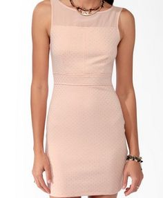 19.80 Metallic Dotted Bodycon Dress   FOREVER21 - 2021840990