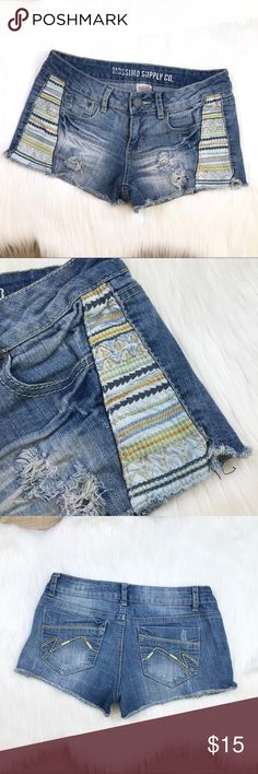 132 Waist: Hip: Inseam: Rise: Leg opening: Mossimo Supply Co. Denim Jeans, Jean Shorts, Short Jeans, Only Jeans, Patchwork Jeans, Recycle Jeans, Jean Outfits, Refashion, Fashion Design