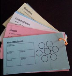 READING COMPREHENSION STRATEGY CARDS RING FOR READING NOTEBOOK RESPONSES - TeachersPayTeachers.com