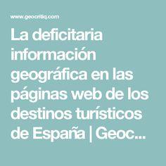 La deficitaria información geográfica en las páginas web de los destinos turísticos de España | GeocritiQ
