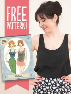 silk cami top sewing pattern (Top View Free Things)