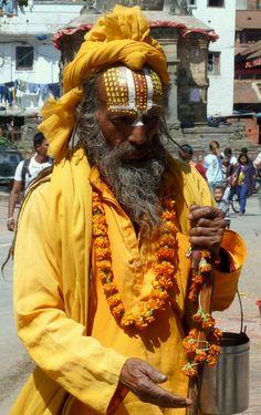 Nepal - Kathamandu, Holy man
