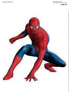 - Oh My Fiesta! for Geeks Spiderman Cake Topper, Spiderman Theme, Spiderman Stickers, Spiderman Man, Spiderman Images, Amazing Spiderman, Spiderman Poses, Avengers Birthday, Superhero Birthday Party