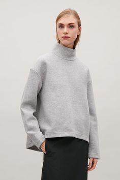 COS | Oversized high-neck sweatshirt
