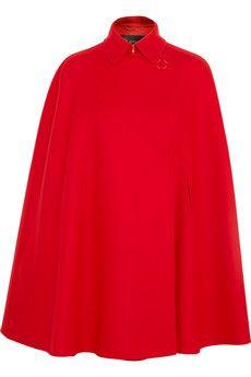 Versace Wool-felt cape   NET-A-PORTER