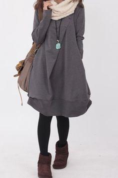 Rundhalsausschnitt, Langarm, lose, nicht von irgendeinem Sinn gebunden und ist einfach, kann allein getragen werden. 【Fabric】 Baumwolle 【Color】 schwarz,