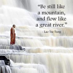 I intend to be still like a mountain and flow like a great river.