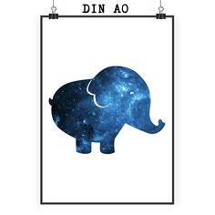 Poster DIN A0 Elefant aus Papier 160 Gramm  weiß - Das Original von Mr. & Mrs. Panda.  Jedes wunderschöne Motiv auf unseren Postern aus dem Hause Mr. & Mrs. Panda wird mit viel Liebe von Mrs. Panda handgezeichnet und entworfen.  Unsere Poster werden mit sehr hochwertigen Tinten gedruckt und sind 40 Jahre UV-Lichtbeständig und auch für Kinderzimmer absolut unbedenklich. Dein Poster wird sicher verpackt per Post geliefert.    Über unser Motiv Elefant  Dickhäuter kommen neben dem Zoo in freier…