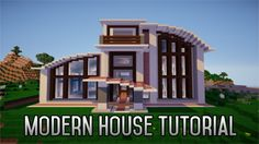 Minecraft: How To Build A Modern House 1.8 Part 3 - YouTube