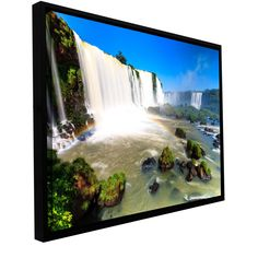 Iguassu Falls 3 by Cody York Floater-Framed Photographic Print on Gallery-Wrapped Canvas