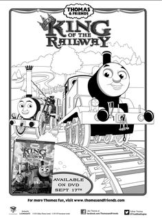 Thomas and Friends Coloring Page Birthday Party PBS Parents