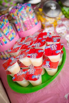 Banana pudding snack packs for the monkeys.