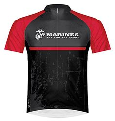 58e29c4c0 Amazon.com   U.S. Marines Battalion Cycling Jersey Men s Small Short Sleeve  by Primal Wear   Sports   Outdoors
