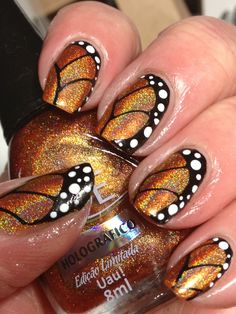 Butterfly nails are super cute and pretty. Check out these 39 elegant butterfly nails designs… I love the most! Read more: 39 Elegant Butterfly Nails Designs image source:. Butterfly Nail Designs, Butterfly Nail Art, Nail Art Designs, Monarch Butterfly, Butterfly Wings, Fabulous Nails, Gorgeous Nails, Pretty Nails, Hot Nails