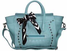 Womens Ladies Designer Celebrity Leather Style Tote Satchel Smile Skull Scarf Shoulder Bag Handbag (Light Blue Skull & Scarf): Amazon.co.uk: Shoes & Bags  19 year old