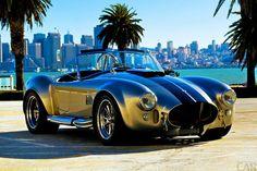 著名な自動車車ACコブラの美しい絵。