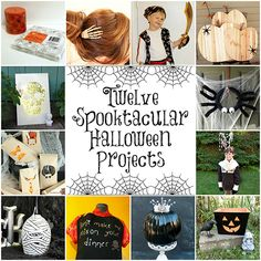12 New Halloween Projects from some of your favorite DIY bloggers