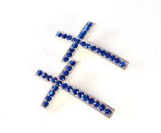 Sideways Cross Connector Rhinestone Cross by trendzjewelrysupply, $7.00