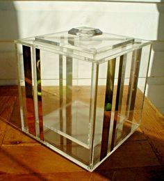 Vintage Mid Century Modern Lucite Ice Bucket with Lid by Georges Briard #MidCenturyModern #GeorgesBriard